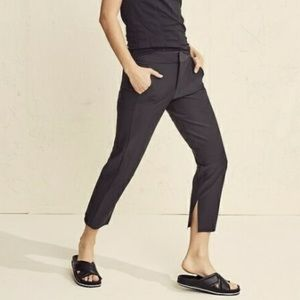 Athleta stellar crop trouser black size 2P pants